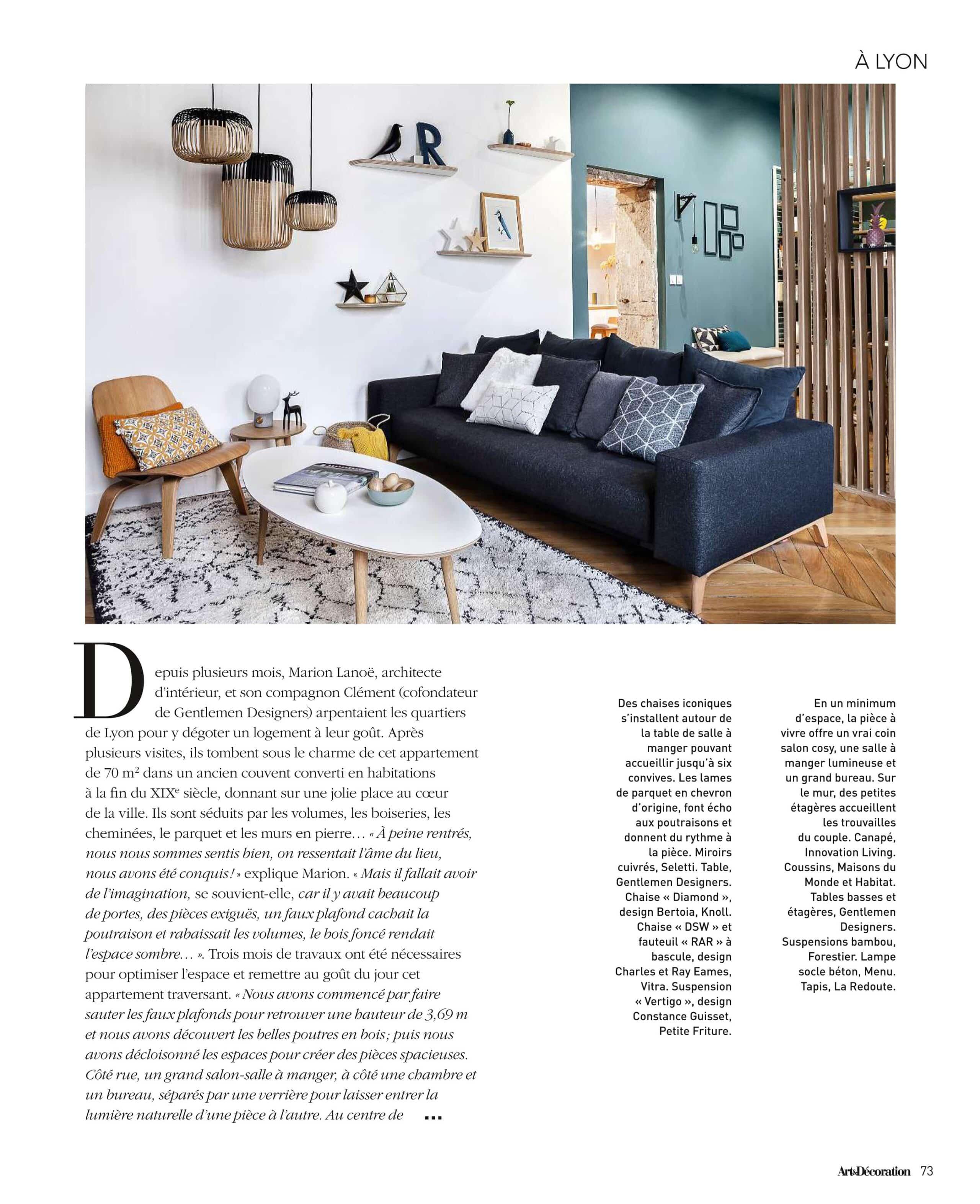 Presse Actus Architecture Dintérieur Déco Lyon - Canapé 3 places pour architecte et decorateur d interieur